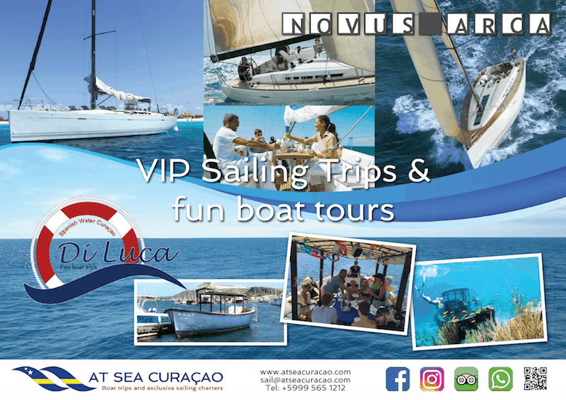 AT SEA Curacoa VIP sailing charters and fun boat trips
